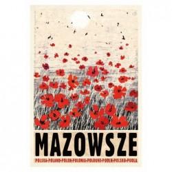 Mazowsze, postcard by...