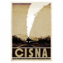 Cisna, postcard by Ryszard...