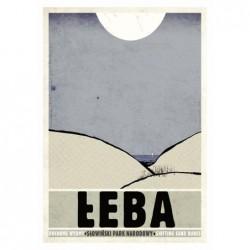 Łeba, postcard by Ryszard Kaja