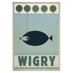 Wigry, postcard by Ryszard...