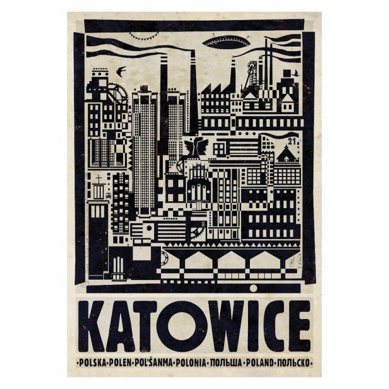 Pocztówka Katowice Ryszard Kaja
