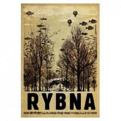 Rybna, postcard by Ryszard...