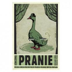 Pranie, postcard by Ryszard...