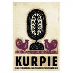 Kurpie, postcard by Ryszard...