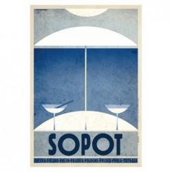Sopot, pocztówka, Ryszard Kaja