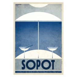 Sopot, postcard by Ryszard...