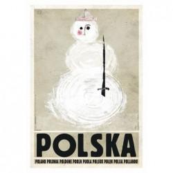 Polska z bałwanem, postcard...