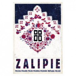 Zalipie, postcard by Kaja...