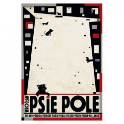 Psie Pole, pocztówka, Kaja...