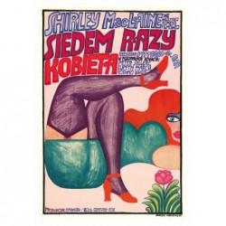 Woman Times Seven, postcard...