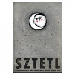 Sztetl, postcard by Ryszard...