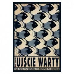 Ujście Warty, postcard by...