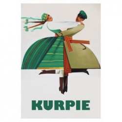 Kurpie, postcard by Wiktor...