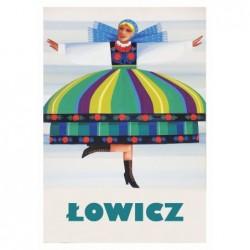 Łowicz, postcard by Wiktor...