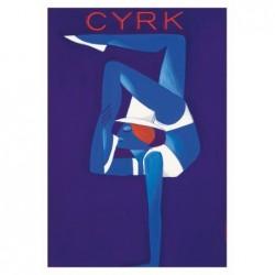 Pocztówka Cyrk z akrobatką,...