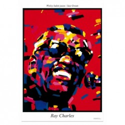 Ray Charles, postcard by...