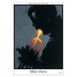 Miles Davis, postcard by...