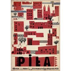 Piła, postcard by Ryszard Kaja