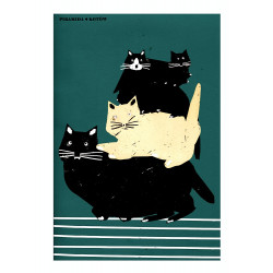 Pile of cats, postcard by...