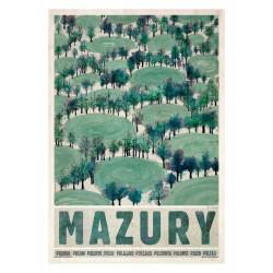 Masuria: Spring, postcard...