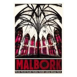 Malbork, pocztówka, Ryszard...
