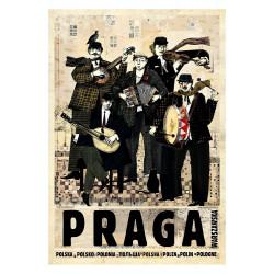 Praga, pocztówka, Ryszard Kaja