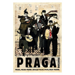 Praga, postcard by Ryszard...