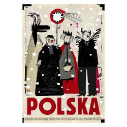 Polska Kolędnicy, postcard...