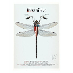 Easy Rider, postcard by...