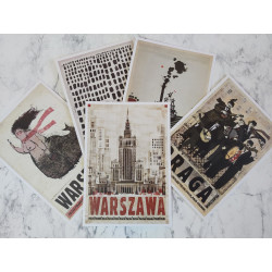 Warsaw postcard set