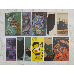 Cat postcard set 2 - modern...