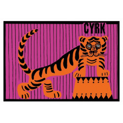 Cyrk z tygrysem, pocztówka,...