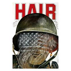 Hair, postcard by Andrzej...