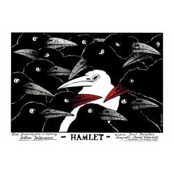 Hamlet, postcard by Andrzej...