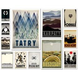 Mountain postcard set