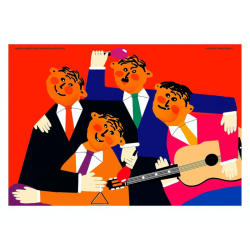 Musicians, postcard by...