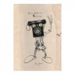 Mickey Mouse, postcard by...