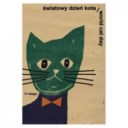 World Cat Day, postcard by...